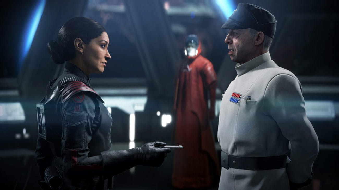 "Janina Gavankar stars as Iden Versio in the very good 'Battlefront II"" campaign."