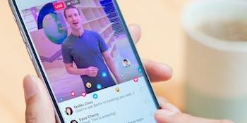 Zuckerberg on Facebook Live.