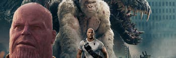 Rampage Movie and Infinity War