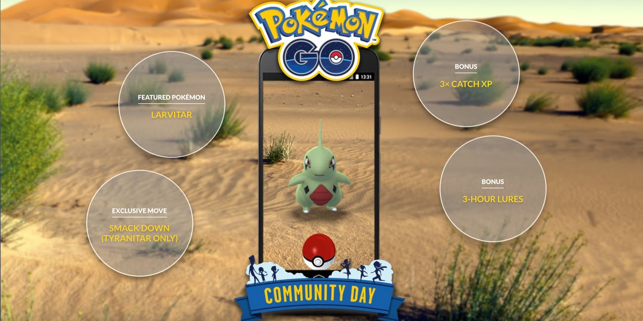 Pokemon Go June Community Day Larvitar
