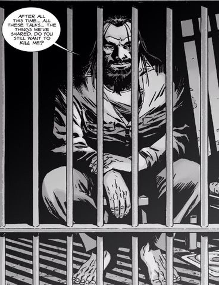 In 'The Walking Dead' comics, Carl frequently visits Negan and the two almost become friends despite Carl still wanting to kill Negan.