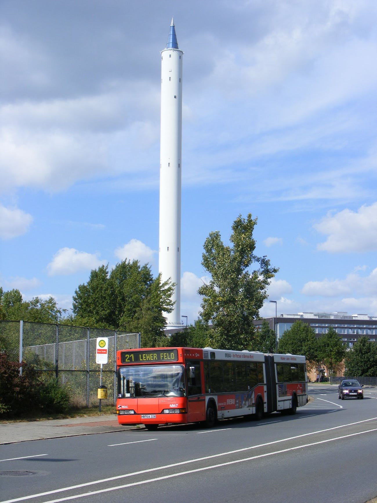 Neoplan articulated bus nr 4867 at Zarm, Bremen University