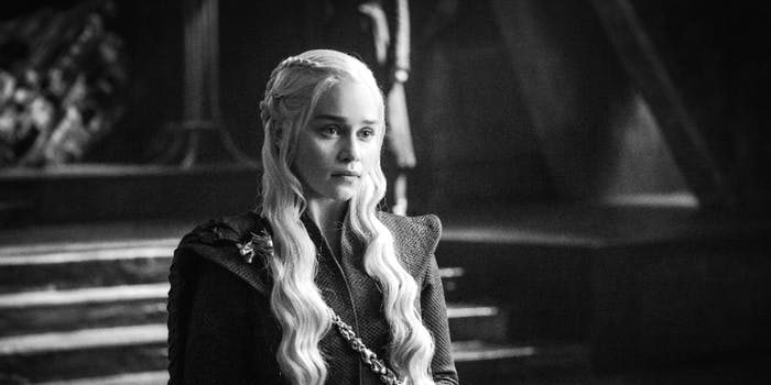Emilia Clarke as Daenerys Targaryen in 'Game of Thrones' Season 7