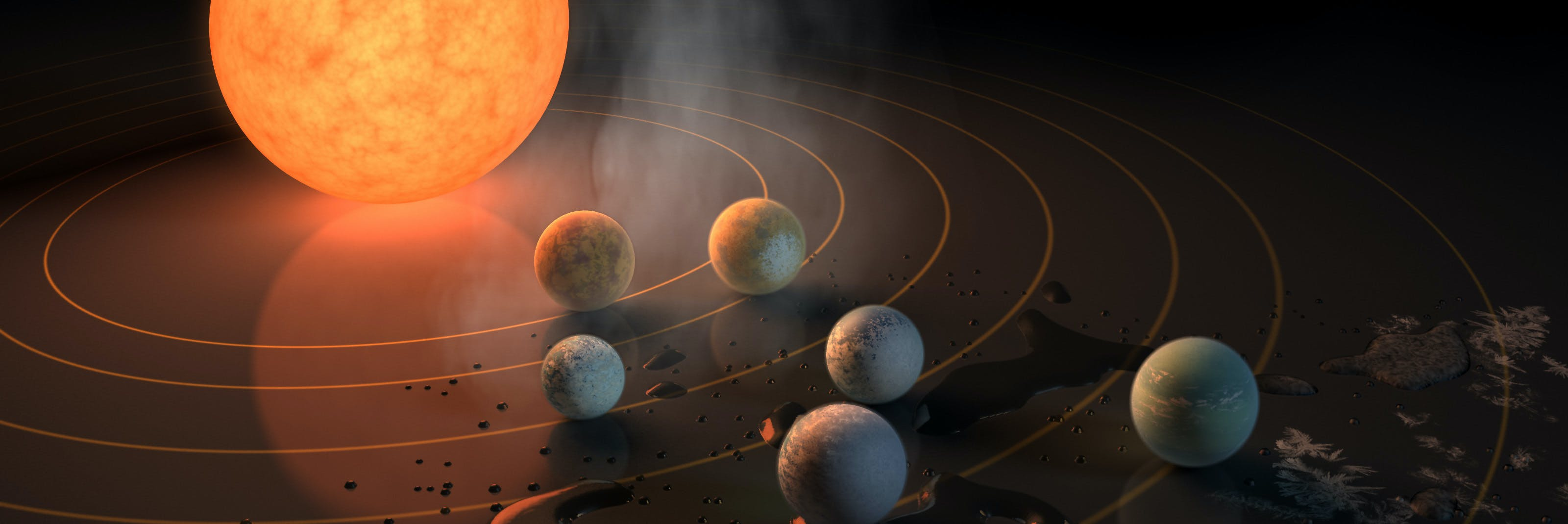 The TRAPPIST-1 planets are so close to each other that theorists estimated that it is likely that if life exists in the system, it can travel from planet to planet.