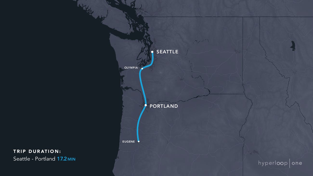 The Pacific northwest route.