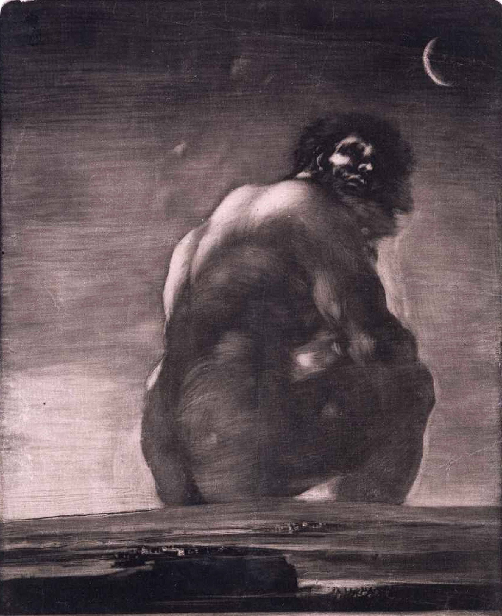 'Coloso,' by Goya, is one of several paintings that influenced Attack on Titan's titular monsters.