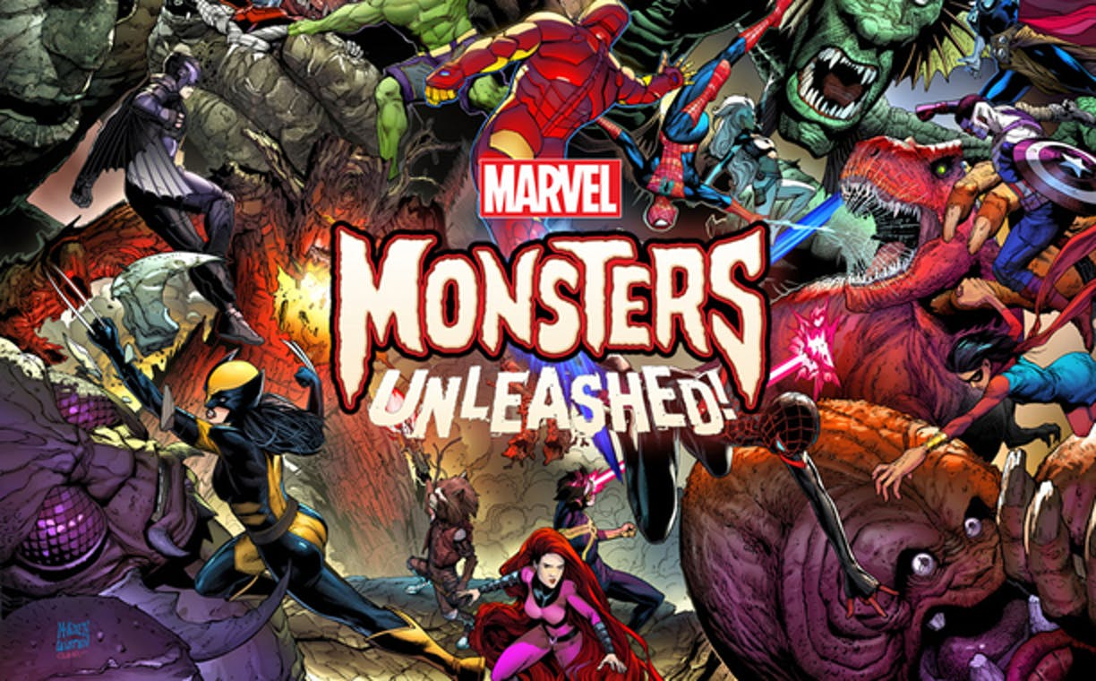 Promotional ad for Marvel's Monsters Unleashed 2017 event