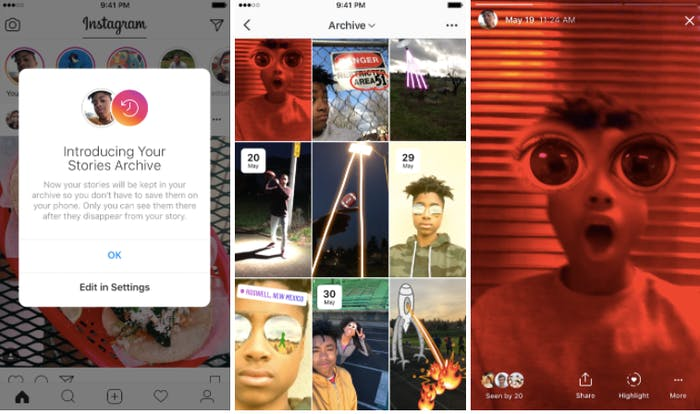 How to use instagram highlights and archive the new stories instagram s stories archive will look like this ccuart Choice Image