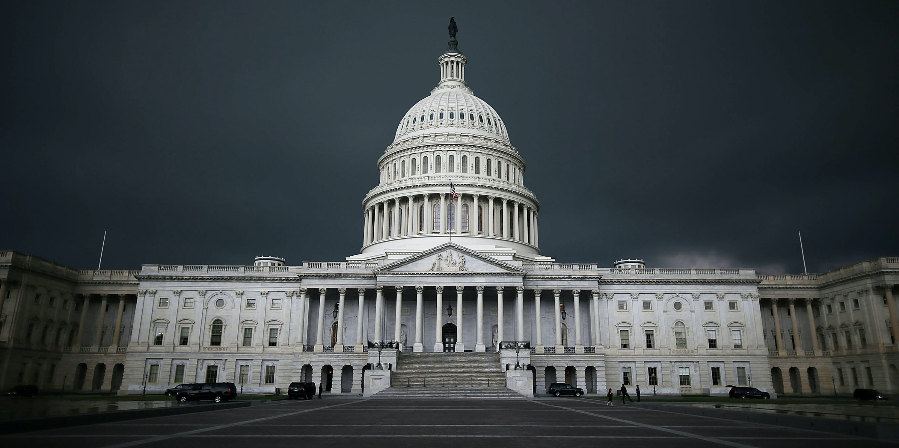 Storm clouds fill the sky over the U.S. Capitol Building, June 13, 2013 in Washington, DC. Potentially damaging storms are forecasted to hit parts of the east coast with potential for causing power wide spread outages.