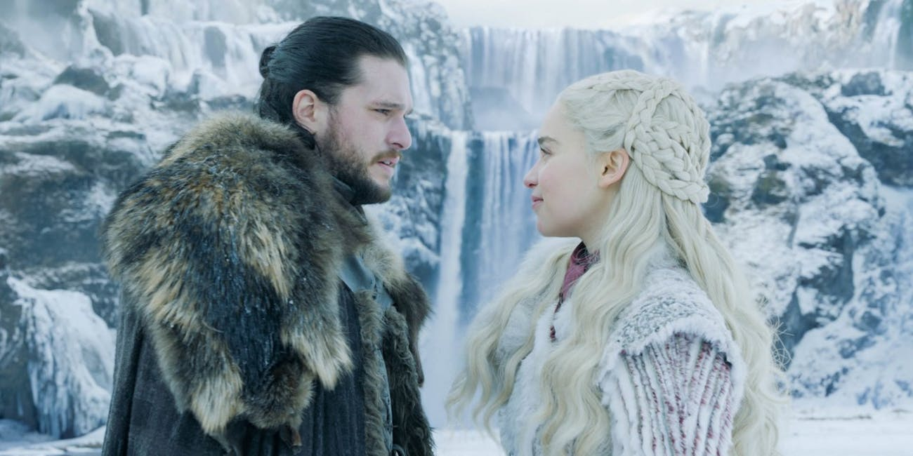 Dany's braids earlier in 'Game of Thrones' Season 8 before everything went wrong.