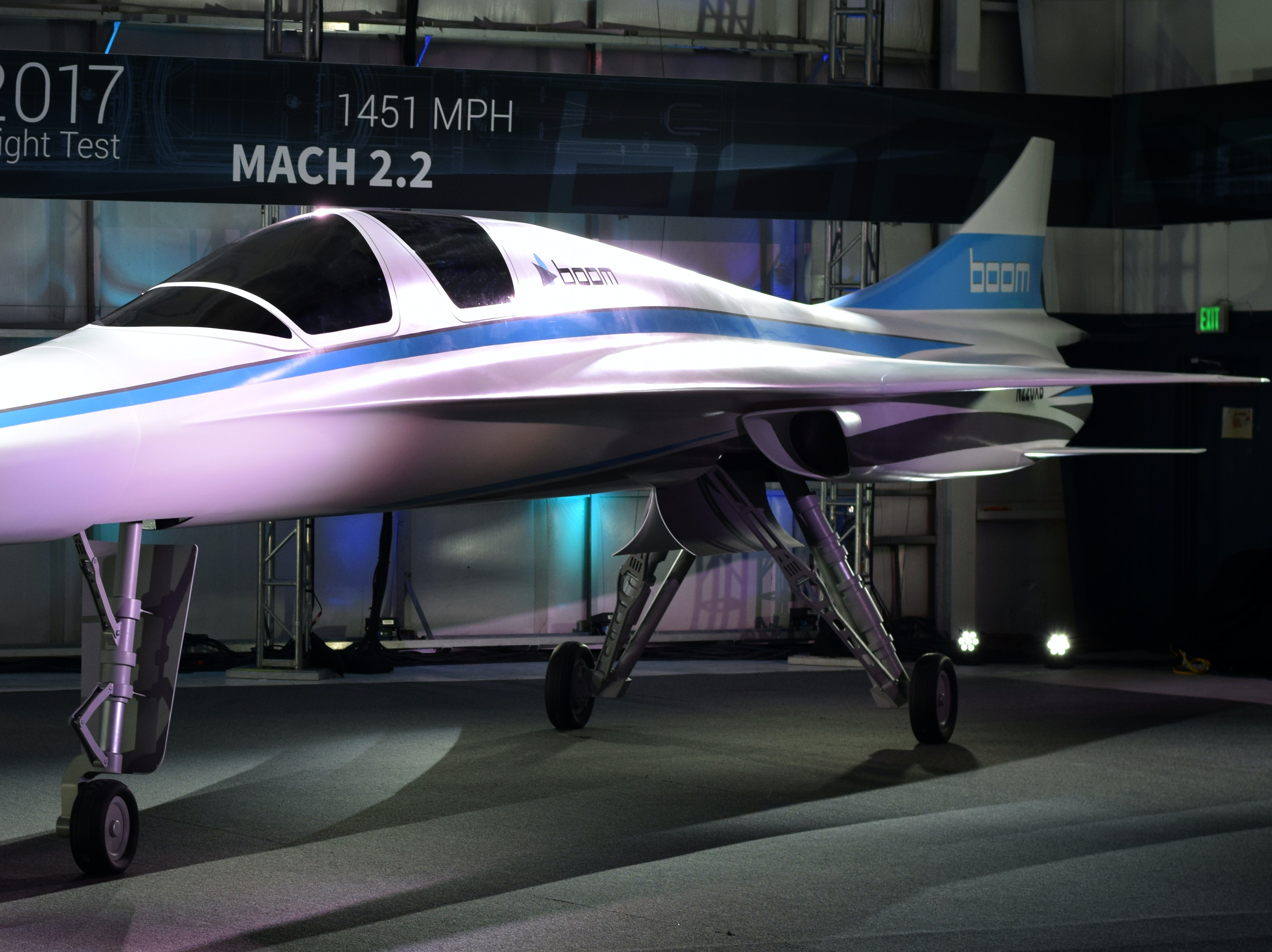 """Boom Technology's """"Baby Boom"""" Supersonic Jet Prototype Is Sleek AF"""