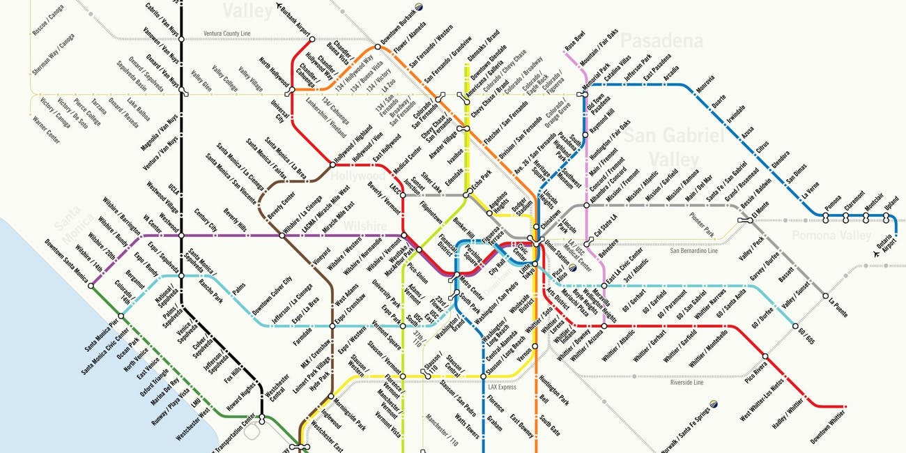 The 2024 Olympics Might Make L A s Futuristic Metro Map e True
