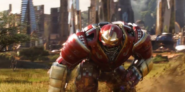 That might not be Tony Stark in the armor in this shot from the trailer.