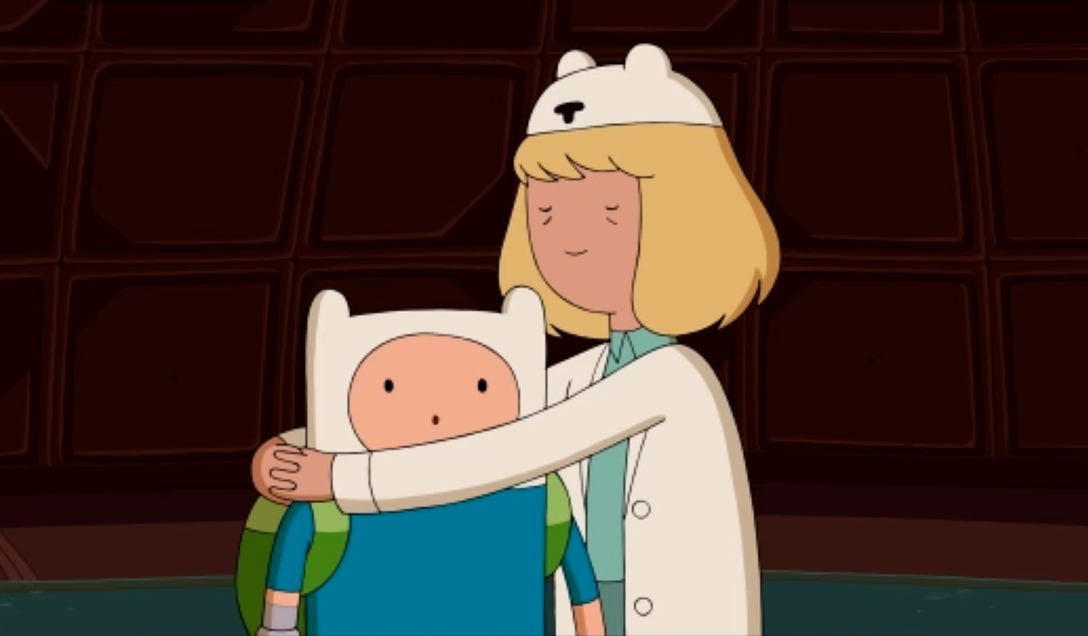 Finn and his mom, Minerva, on 'Adventure Time.'