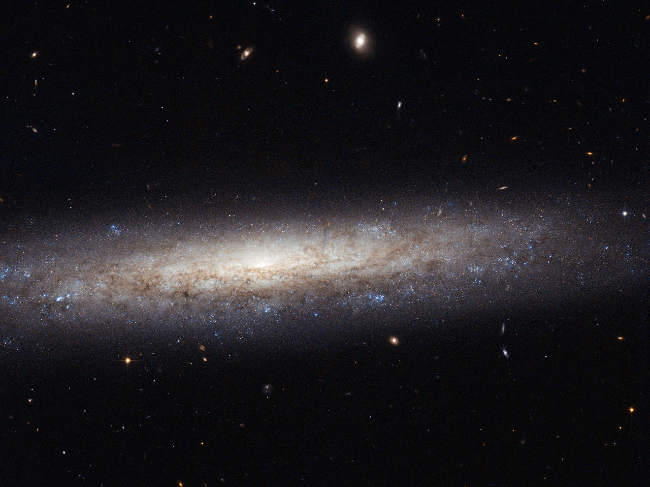 A dusty spiral in Virgo, the direction of sky in which lies newly discovered ultra-faint Virgo 1.