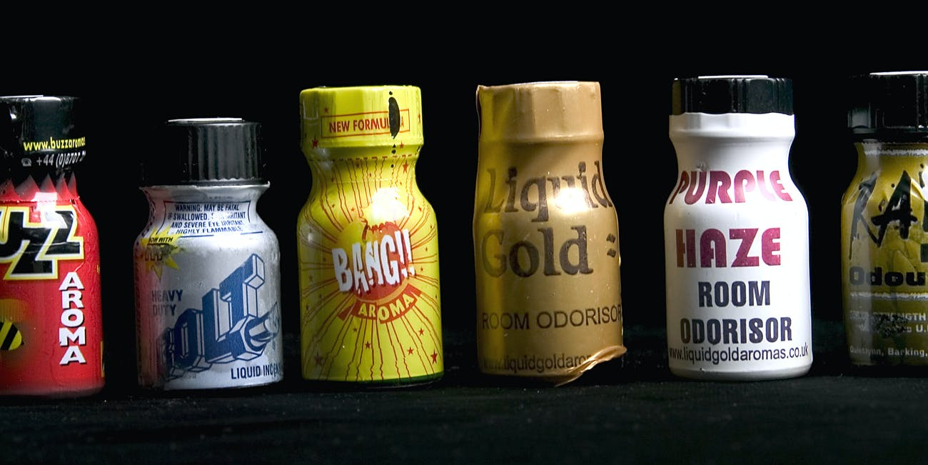Poppers Pride Week liquid gold purple haze room odorisor drug