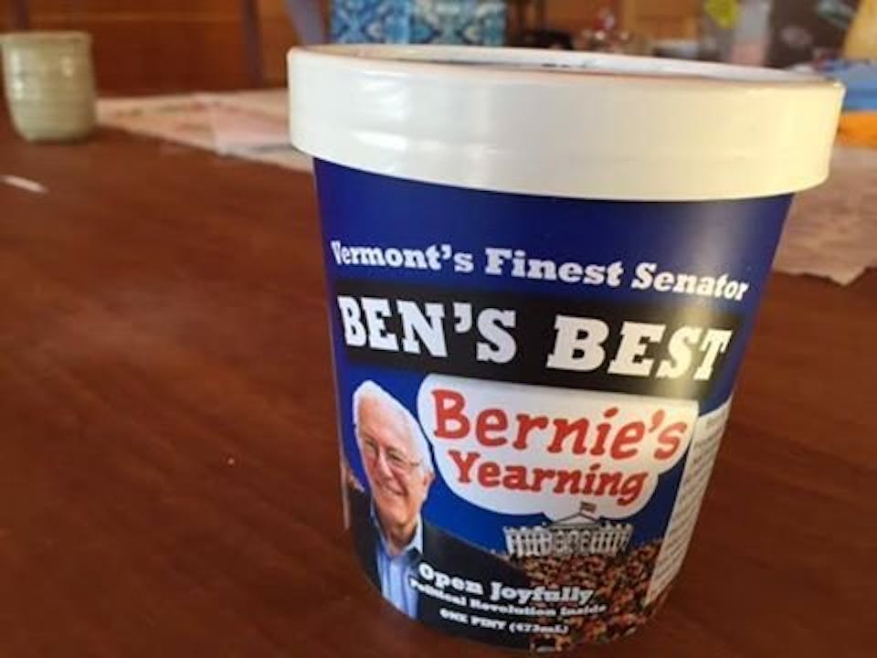 The unofficial Bernie Sanders Ben and Jerry's flavor.