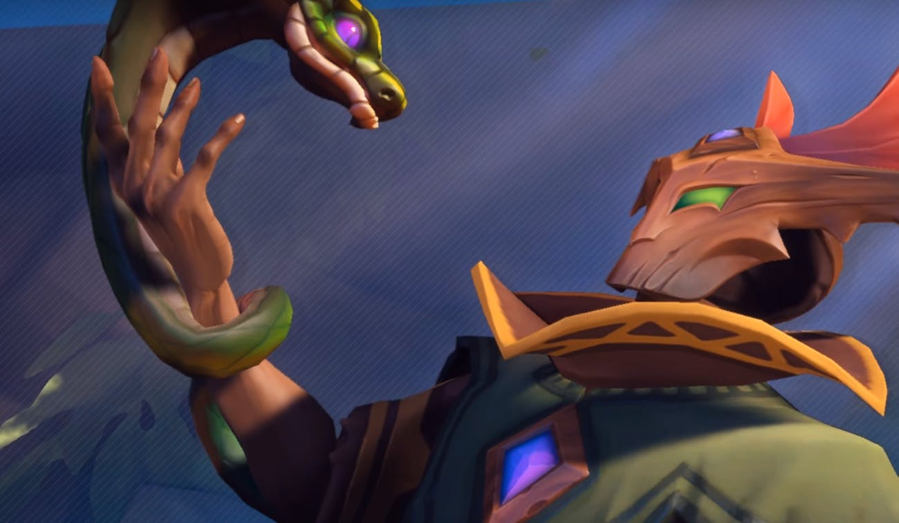 Spit venom in your enemies faces in 'Paladins'.