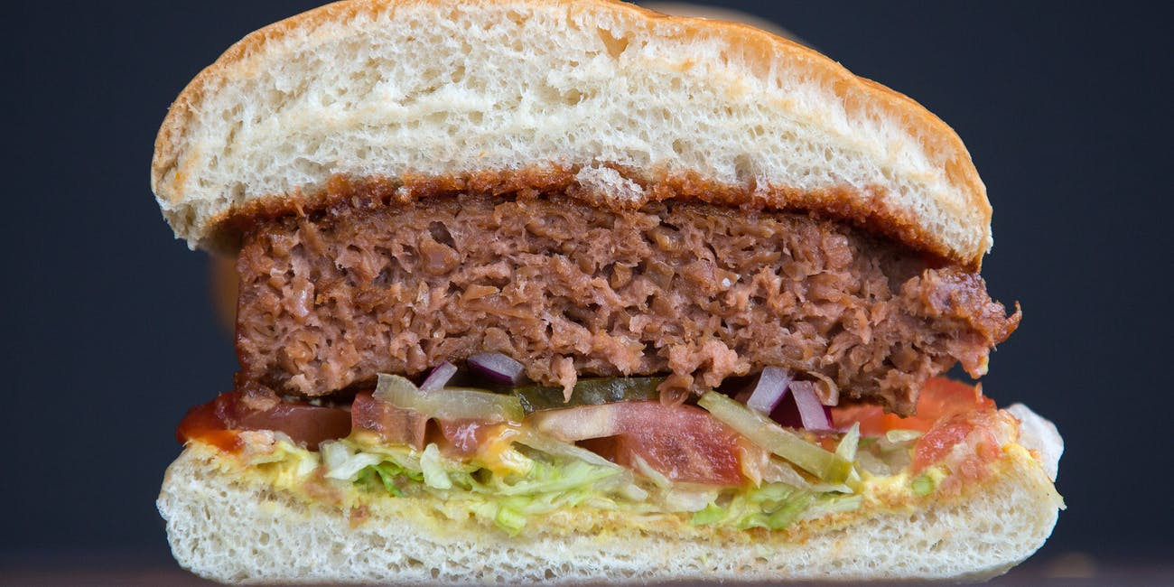 plant-based food burger