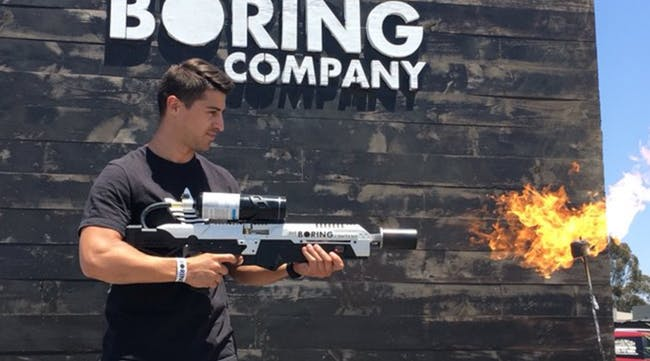 A Boring Company Not-a-Flamethrower
