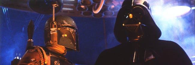 Boba Fett and Darth Vader in Cloud City