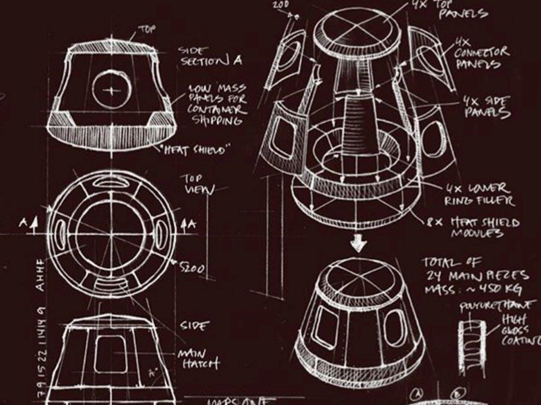 Mars One pod plans