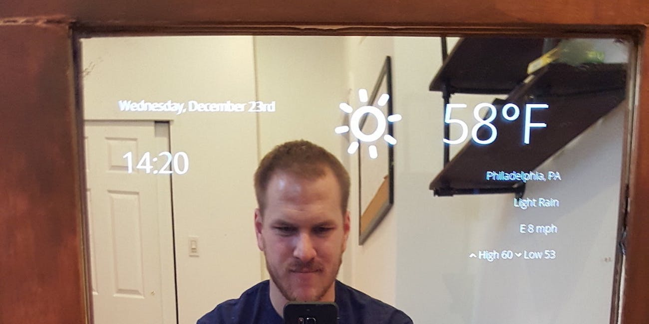 How To Build Your Own Diy Smart Mirror From A Flatscreen Tv