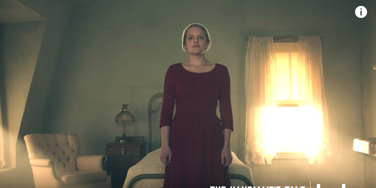 Elizabeth Moss as Offred in 'The Handmaid's Tale'