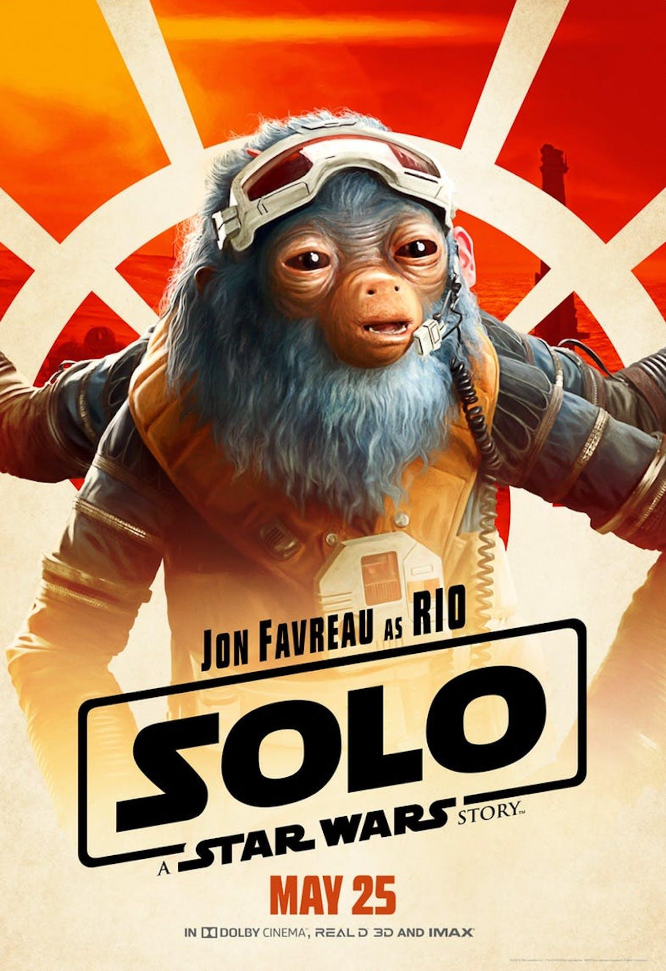 Jon Favreau as Rio Durant in 'Solo: A Star Wars Story'.