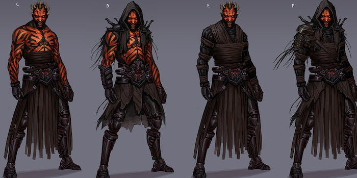 Lots of costume changes for Darth Maul