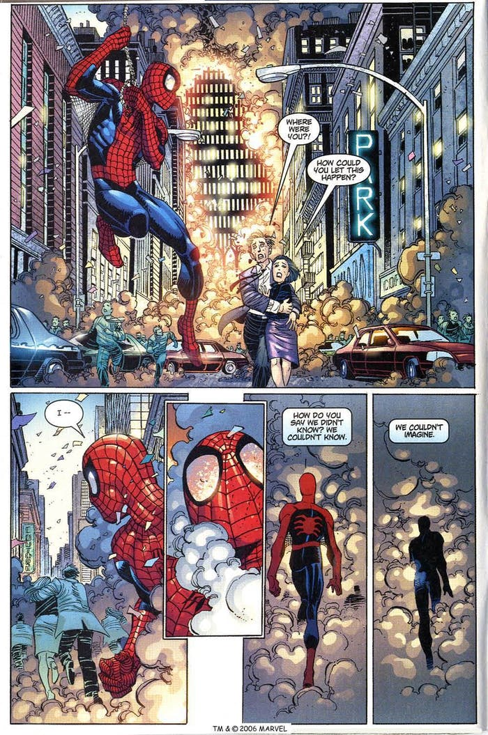 """'The Amazing Spider-Man' #36 Vol. 2, """"Stand Tall,"""" where Spider-Man and the Marvel Universe deal with the events of 9/11."""