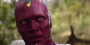 Vision has a really tough time in 'Avengers: Infinity War'.