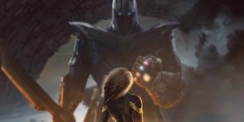 Infinity War Captain Marvel Thanos