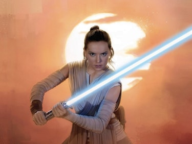 People Are Freaking Out About Rey's Lightsaber in 'The Last Jedi'
