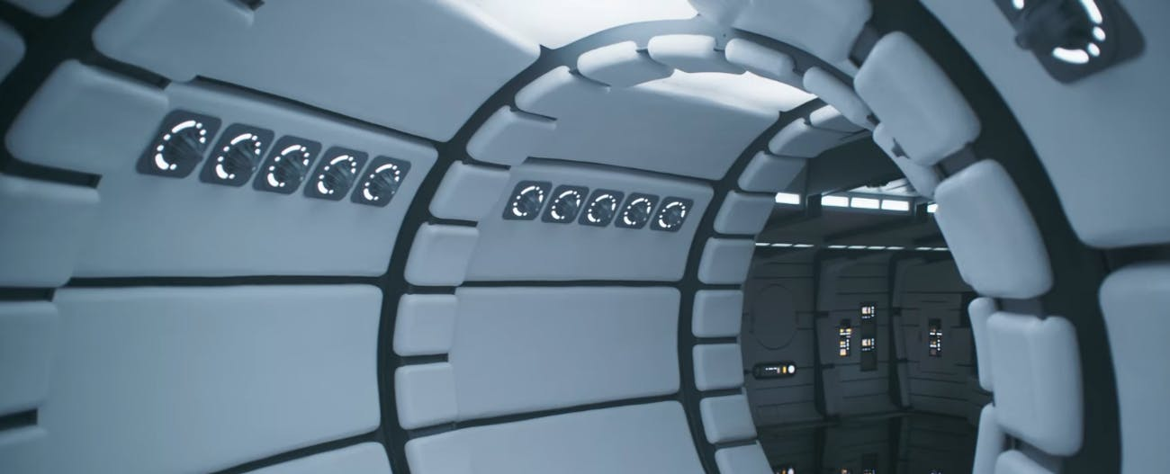 A very clean version of the inside of the Millennium Falcon.