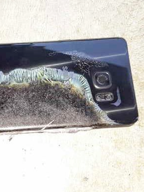 A fried Galaxy Note 7.