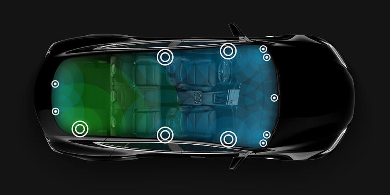 Tesla Model S interior sound system