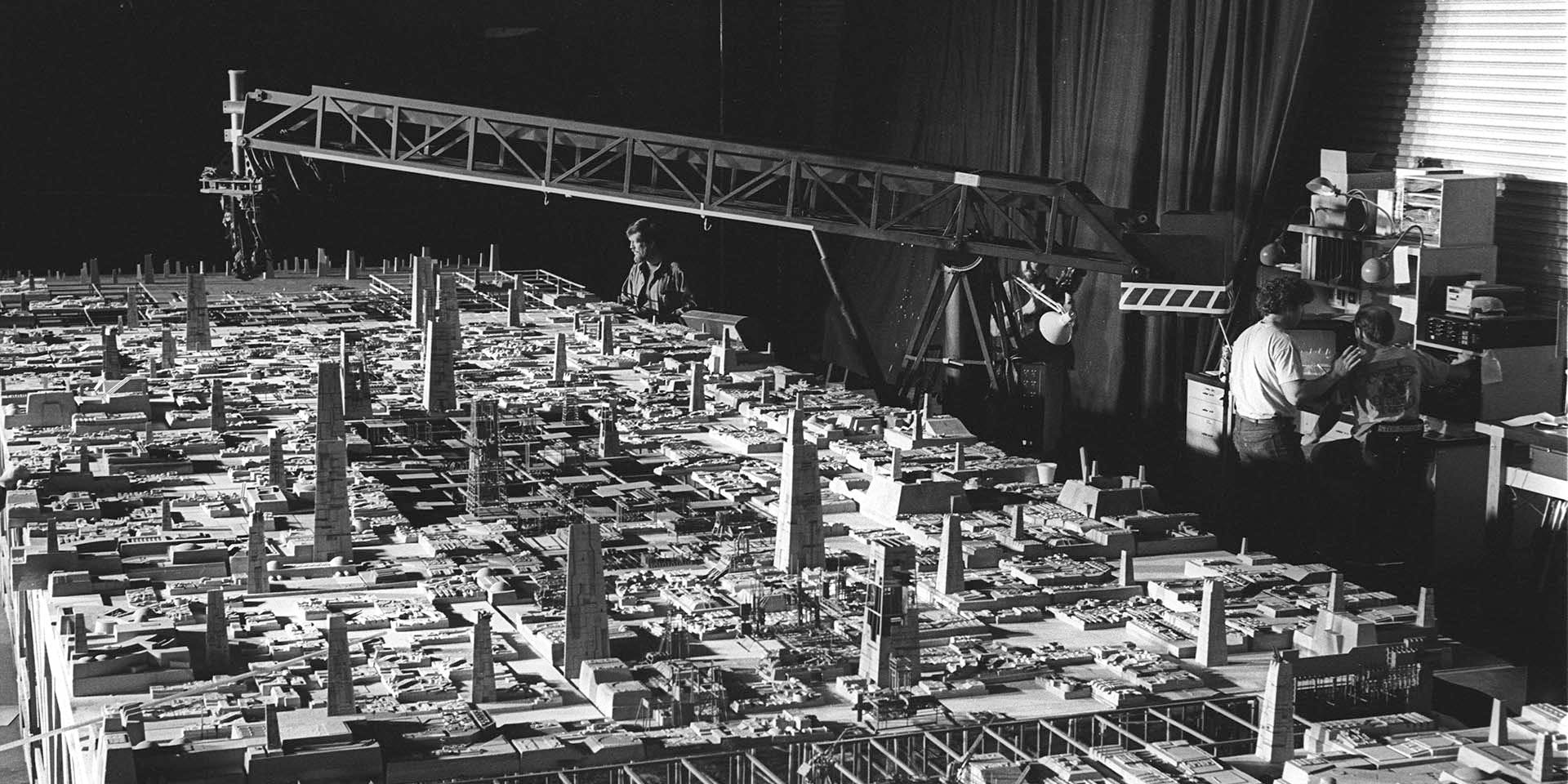 For close-up shots of the Death Star in A New Hope, ILM made intricate surfaces often by 'kit-bashing' existing model kits