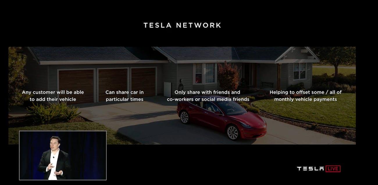 tesla elon musk robo taxi network