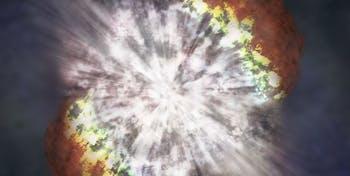 Depiction of a supernova.
