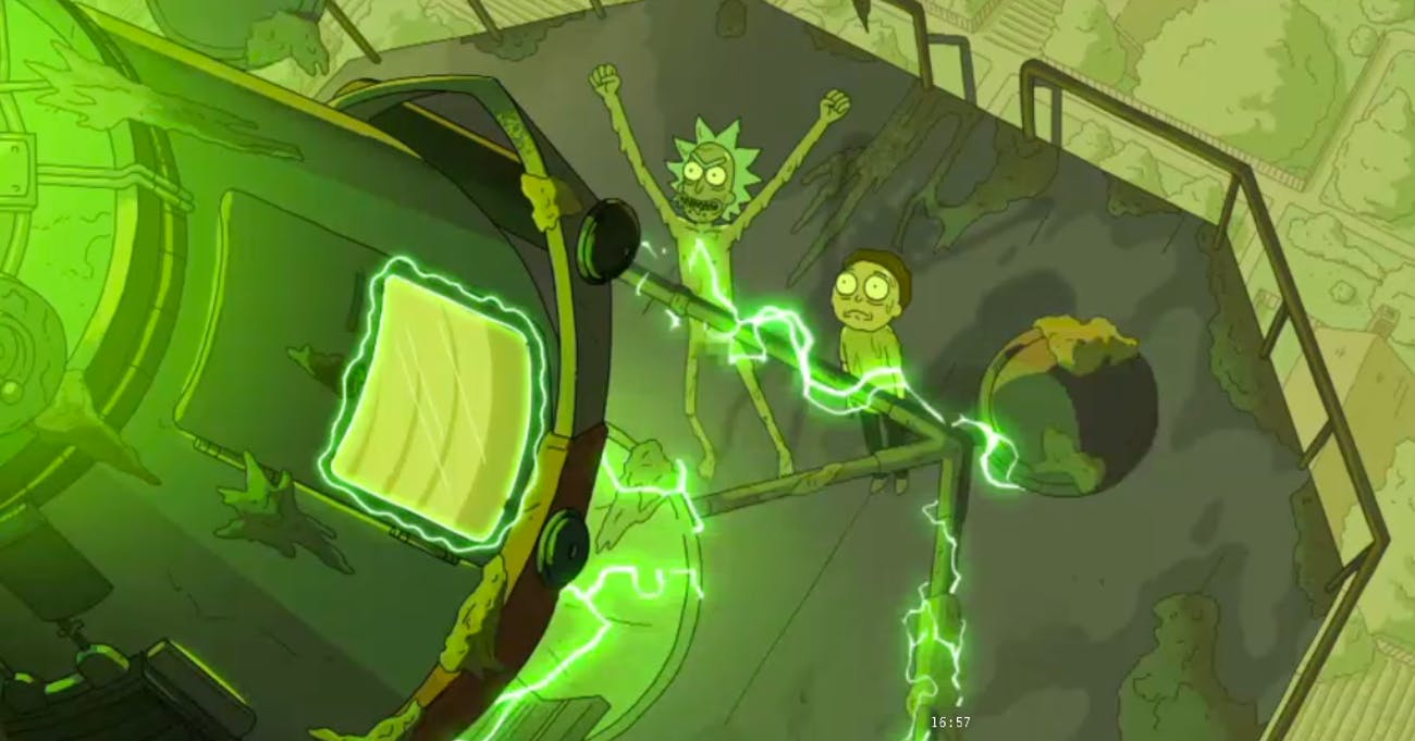 Toxic Rick toxifies the entire planet.