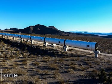 Photos: Hyperloop One Shows Off 'DevLoop' Test Tube in Nevada