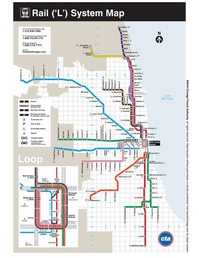 Chicago's current rail system.