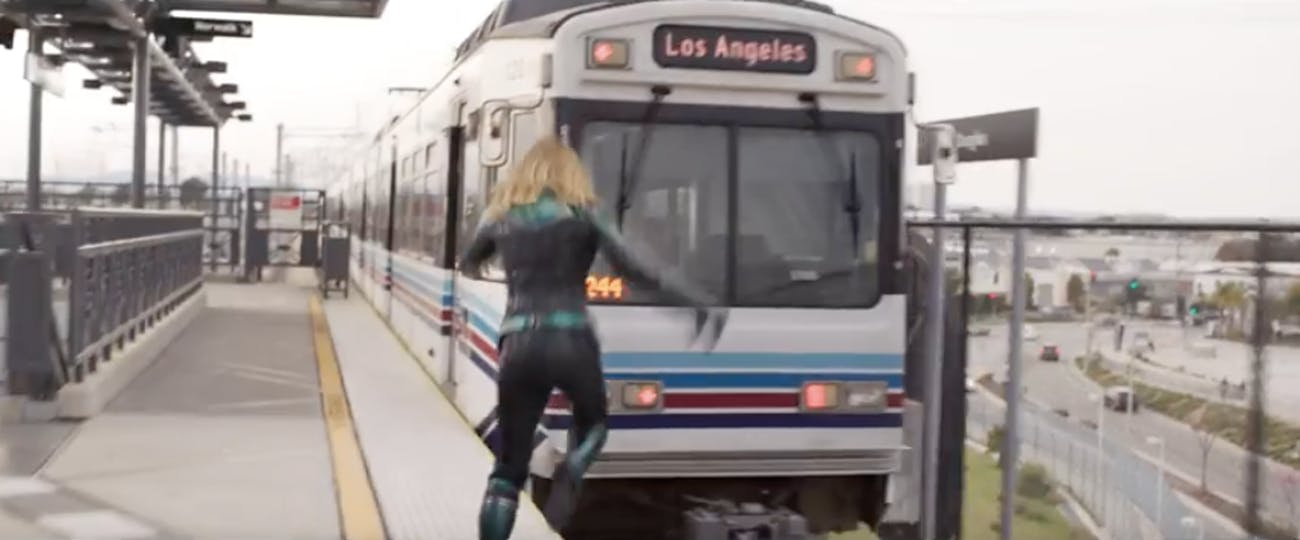 'Captain Marvel' Train Los Angeles