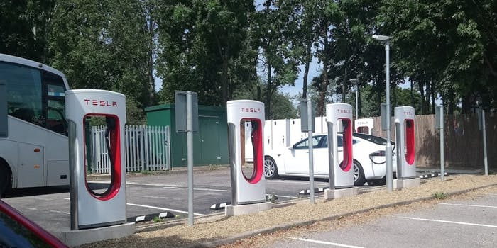 tesla supercharger UK