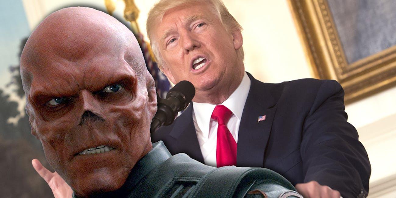 Trump Red Skull
