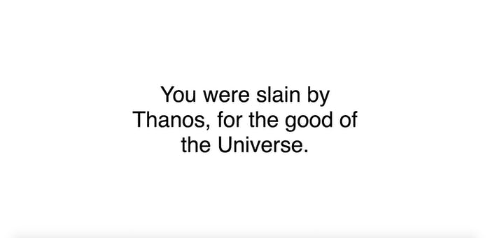 Did Thanos Kill You Avengers
