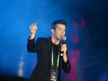WASHINGTON, DC - JANUARY 19: Uber CEO Travis Kalanick speaks at the Generation Now Inaugural Youth Ball hosted by OurTime.org on January 19, 2013 in Washington, United States. (Photo by Stephen Lovekin/Getty Images for OurTime.org)