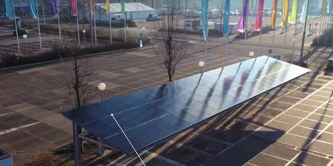Tesla solar panel charging system