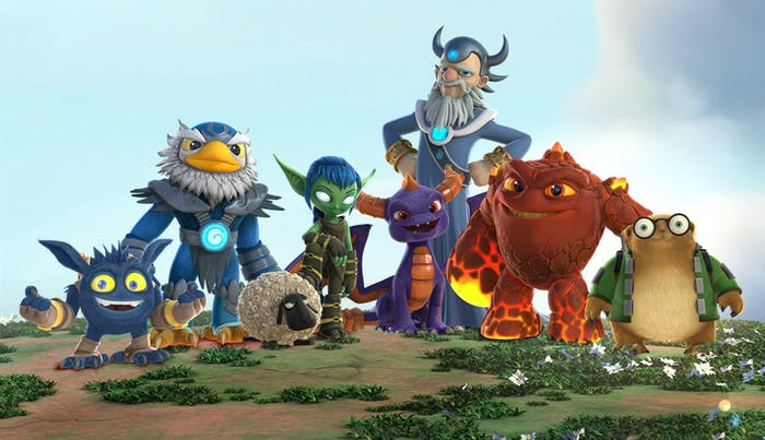 The heroes of 'Skylanders Academy'.